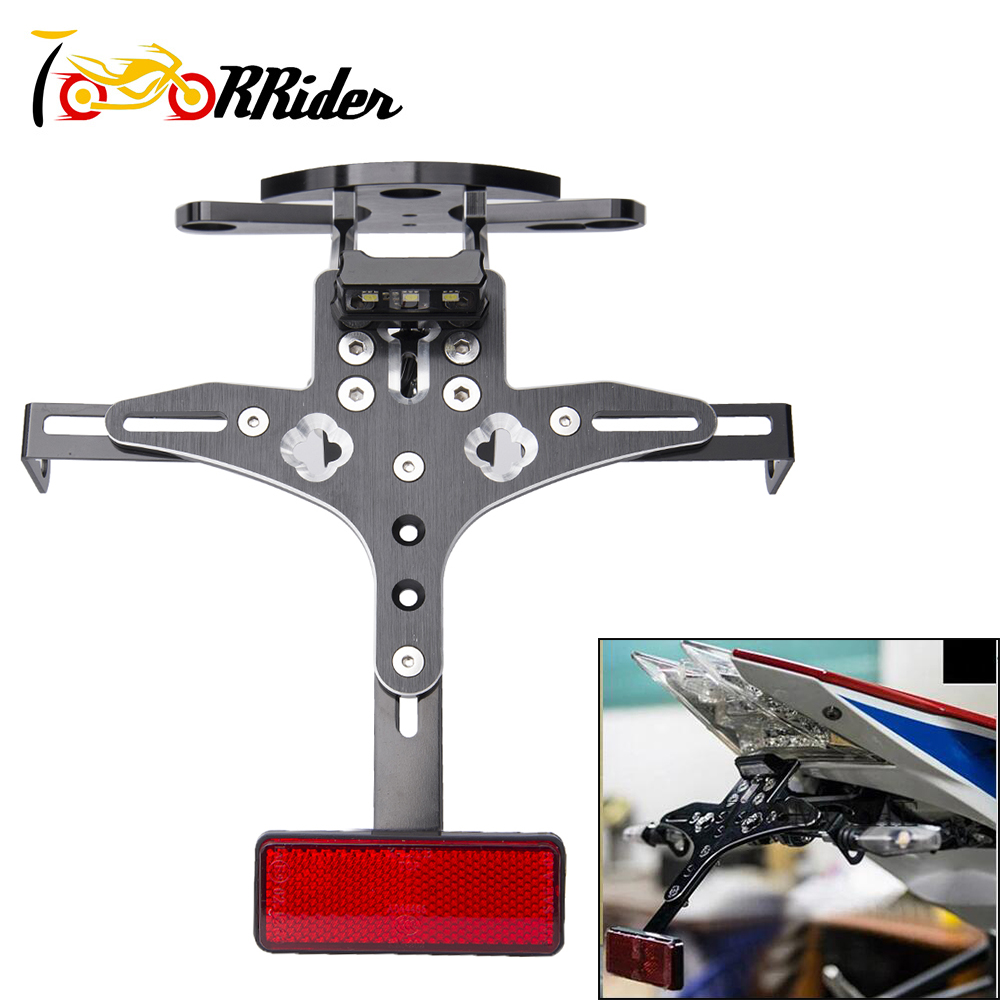 for BMW S1000RR 2012 2016 CNC Motorcycle Adjustable License Number Plate Frame Holder Bracket Mount 2013