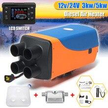 KROAK 12 В/24 В автомобильный воздушный дизельнагреватель стояночный нагреватель 3кВт/5КВТ автомобильный нагреватель с дисплеем дистанционный пульт с lcd для моторного дома прицеп