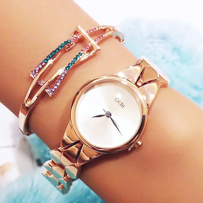 Korea Hot Style Watch for Women Delicate Fashion Gold Simple Quartz