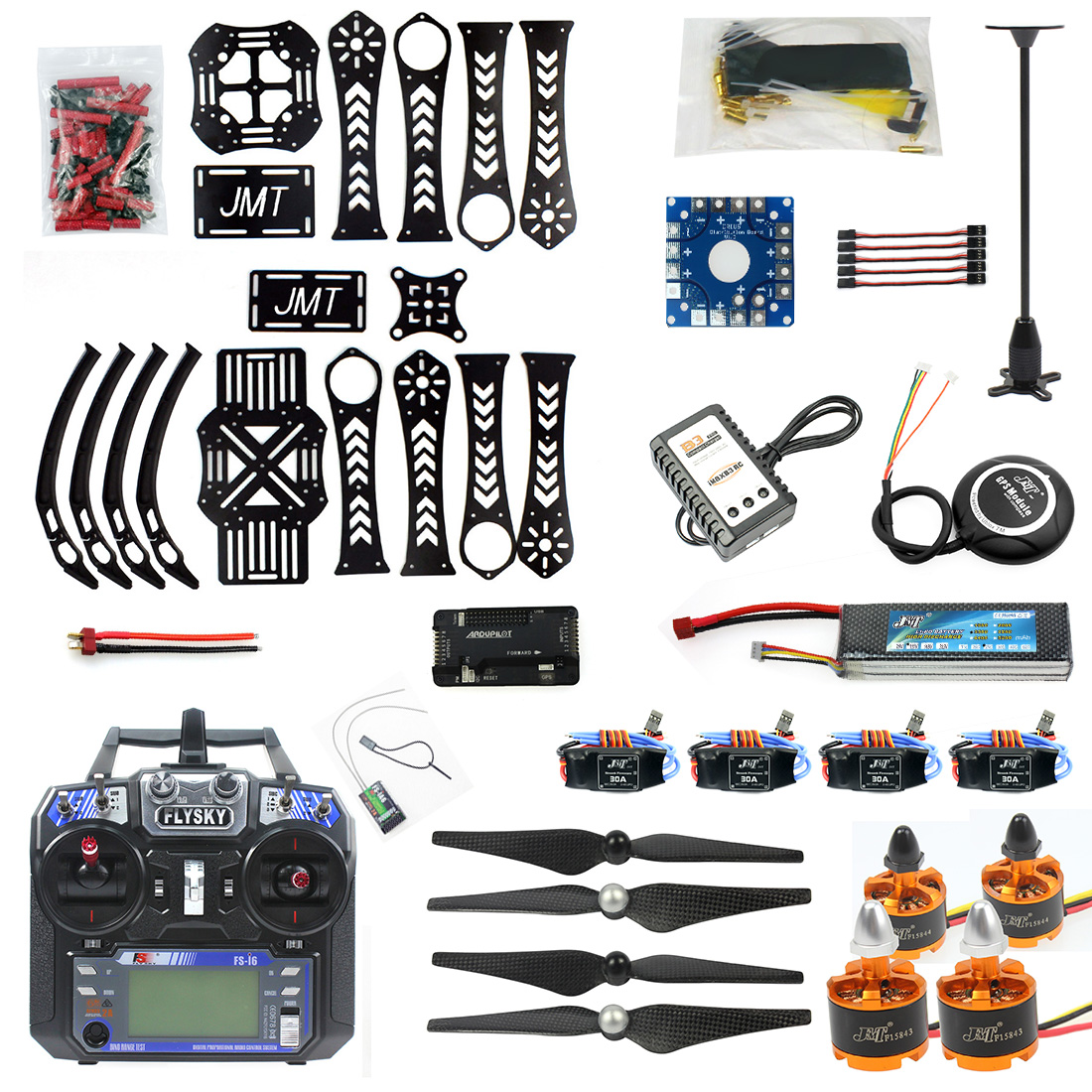 F14892-B DIY RC Drone Quadrocopter X4M360L Frame Kit with GPS <font><b>APM</b></font> <font><b>2.8</b></font> RX TX RTF image