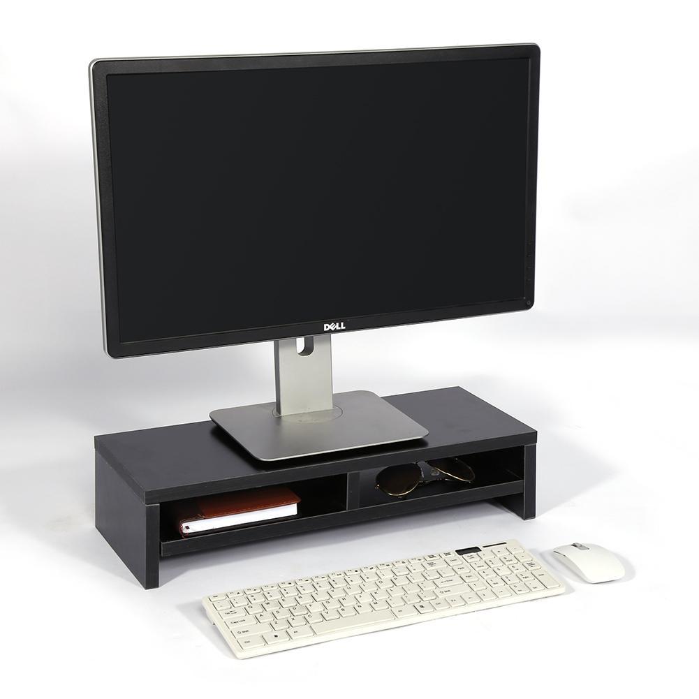 Aus Dem Ausland Importiert Desktop-monitor Stand Lcd Tv Laptop Rack Computer Bildschirm Riser Regal Plattform Büro Schreibtisch Werkzeug Schwarz Ungleiche Leistung