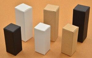 Image 5 - 50 Pcs 100 Pcs Kraft Papier Kartonnen Doos Voor Sieraden Gift Snoep Verpakking Kartonnen Doos Gift Zeep Pakket Verpakking Papier doos Witte