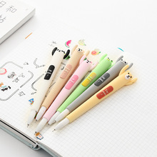 Creative Cartoon Animal Soft Silicone Gel Pen, Korea Cool Cute Modeling Signature Pens Students Stationery
