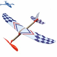 DIY Rubber Band Elastic Powered Flying Planes Kit Airplane Slider Toy Kids Aircrafts Model Children Educational Toys rainbow rubber band children s educational toys bracelet weaving machines