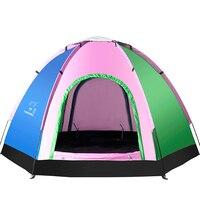 Portable Double Layer 5 8 Person Rainproof Barraca De Acampamento UV Full Automatic Ultra Portable Folding Tent for Hiking
