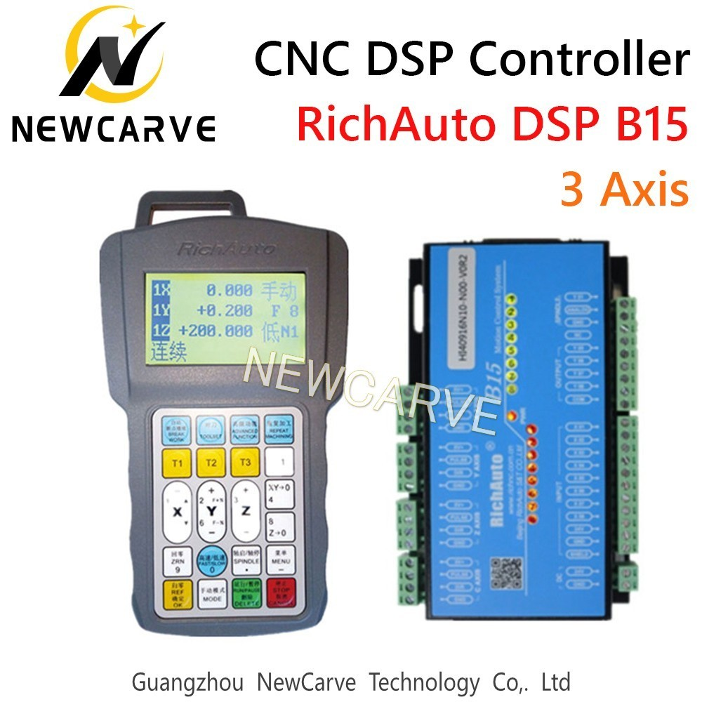 Купить с кэшбэком RichAuto DSP B15 Cylinder Multi-spindle CNC DSP USB Controller 3 Axis Control System Manual Replace A15 NEWCARVE