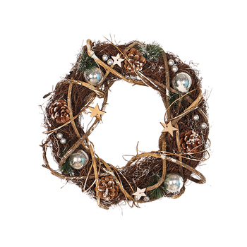 Front Door Wall Wreath Shopwindow Doorway Porch Staircase Decoration Garland Wreath for Christmas Holiday クリア バック ショルダー 大人