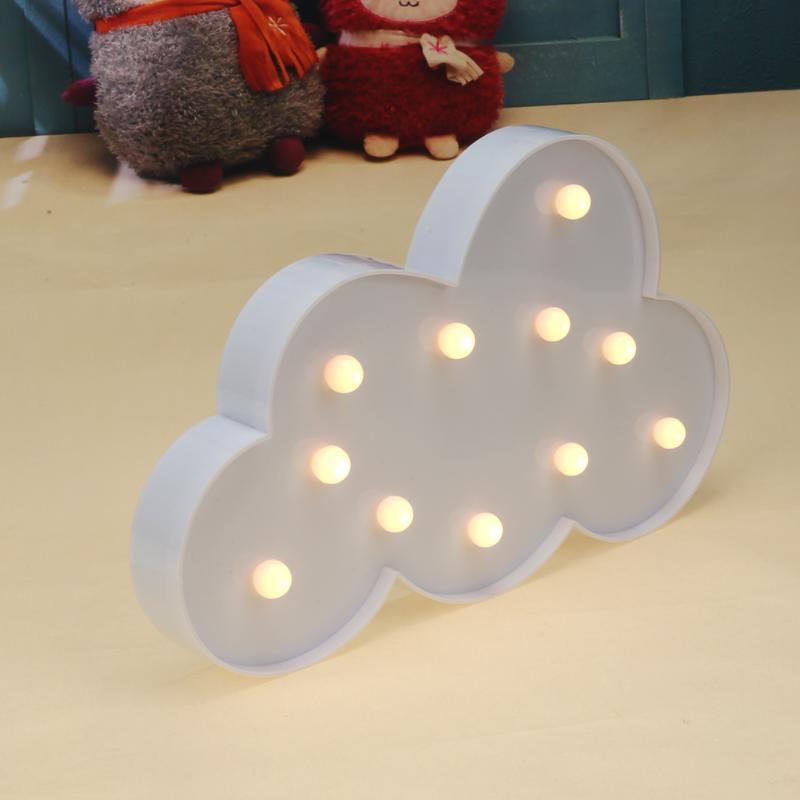 Creative LED Night Light Moon Cloud Light 3D Lamp Nightlight Table Decoration Children Home Decor New Year  LED Modeling Light