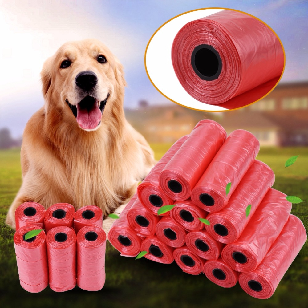 Dog-Poop-Bag Garbage-Bags Pets-Waste-Collection-Bag Trash Outdoor-Cleaning For Cat 20-40-Rolls/Pack