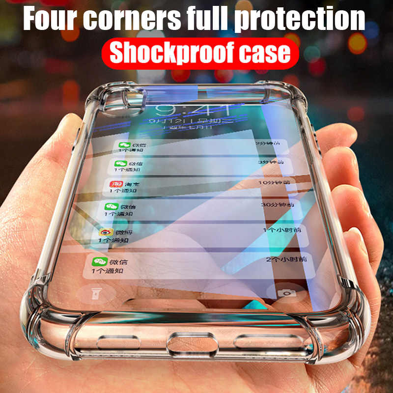 Clear Shockproof TPU Case For Samsung Galaxy S10 lite S8 S9 A6 A8 Plus A7 A9 2018 J4 J6 J8 Note 8 9 Air Cushion Silicone housing