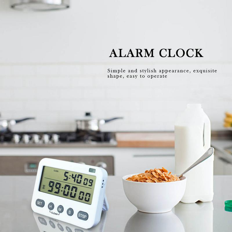 YS-391 Alarm Clock Timer Two Sets Kitchen Reminder Cycled work reminder timer High volume adjustable vibration with flash