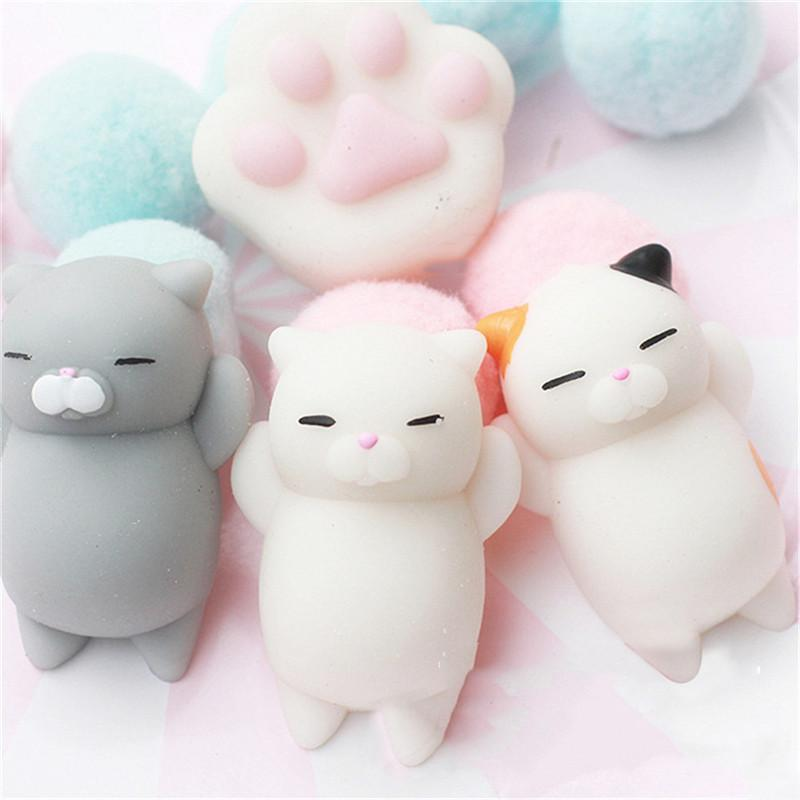Aduld Cat Back Pressure Pinch Music Release Pressure Toy Cute Creative Soft Cute Mini Trumpet Portable Decompression Toys