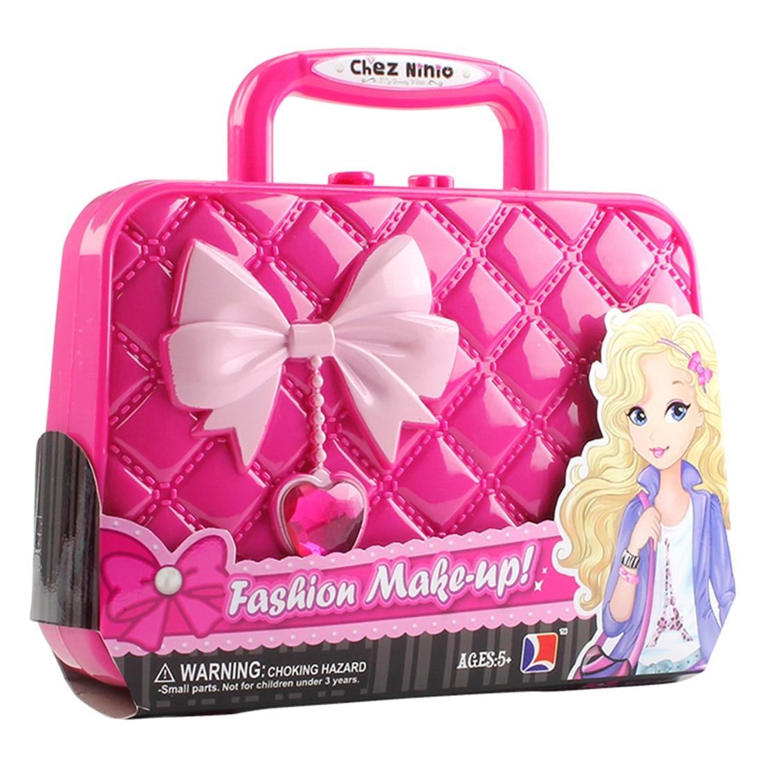 26Pcs Children Pretend Play Playset Girl Cosmetics Kit Environmental Toys Makeup Set Preschool Kid Beauty Handbag Cosmetic Toys