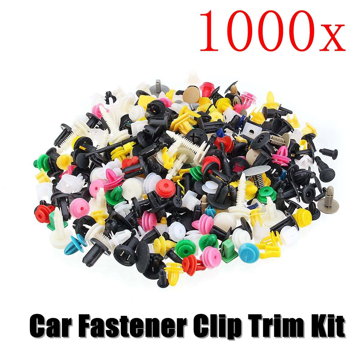 1000Pcs 50kinds Universal Mixed Auto Fastener Car Bumper Clips Retainer Car Fastener Rivet Door Panel Liner For All Car(China)
