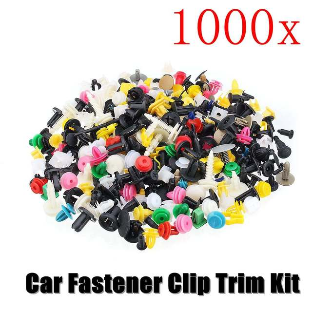 1000Pcs 50kinds Universal Mixed Auto Fastener Car Bumper Clips Retainer Car Fastener Rivet Door Panel Liner for all car