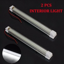 2X Car 12V LED SMD Interior Light Bar Tube Strip Lamp Van Boat Motorhome Caravan