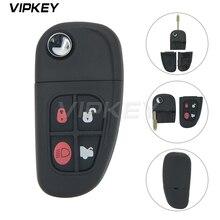 remtekey flip remote key fob for jaguar x s xj xk nhvwb1u241 4 button 434mhz Remotekey NHVWB1U241 FO21 profile 4 button 1X43 15K601 AE for Jaguar X S XJ XK Folding remote key shell case cover