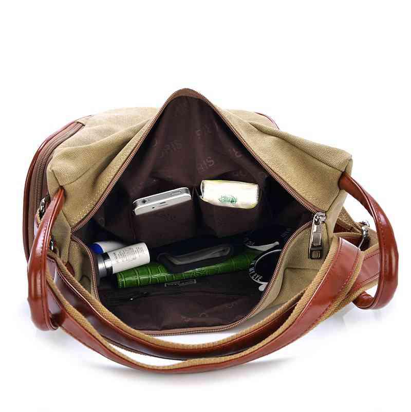 Image 5 - Fashion Canvas Backpack Women Leisure Back Pack Ladies Knapsack Casual Backbags for School Teenage Classic Bagpack With TasselBackpacks   -