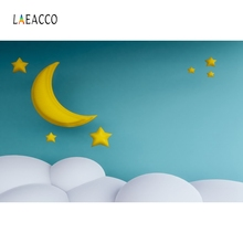 Laeacco Children Cartoon Moon Cloud Backdrop Photography Backgrounds Customized Photographic Backdrops For Photo Studio