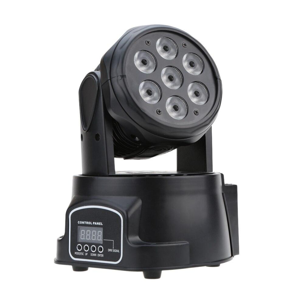 Spectacle DMX Lumière AC100-240V 70 w 9/14 Canaux DMX-512 Disco Lampe Moving Head Light 4 Dans 1 RGBW LED Étape lumière Éclairage Stroboscopique