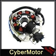 Estator Magneto de encendido de 5 cables, 7 bobinas para Scooter de 2 tiempos Yamaha JOG Minarelli 50 50cc 90 90cc Alpha Sports ATV 1PE40QMB