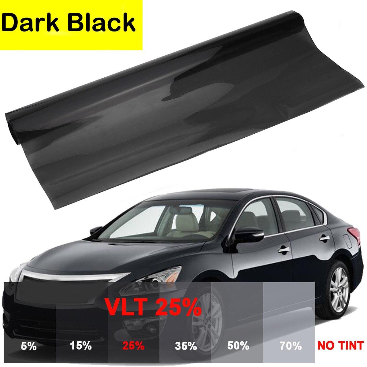 0.5*1cm 15/% VLT Black Universal Car Auto Home Glass Window TINT Sun Shade Film