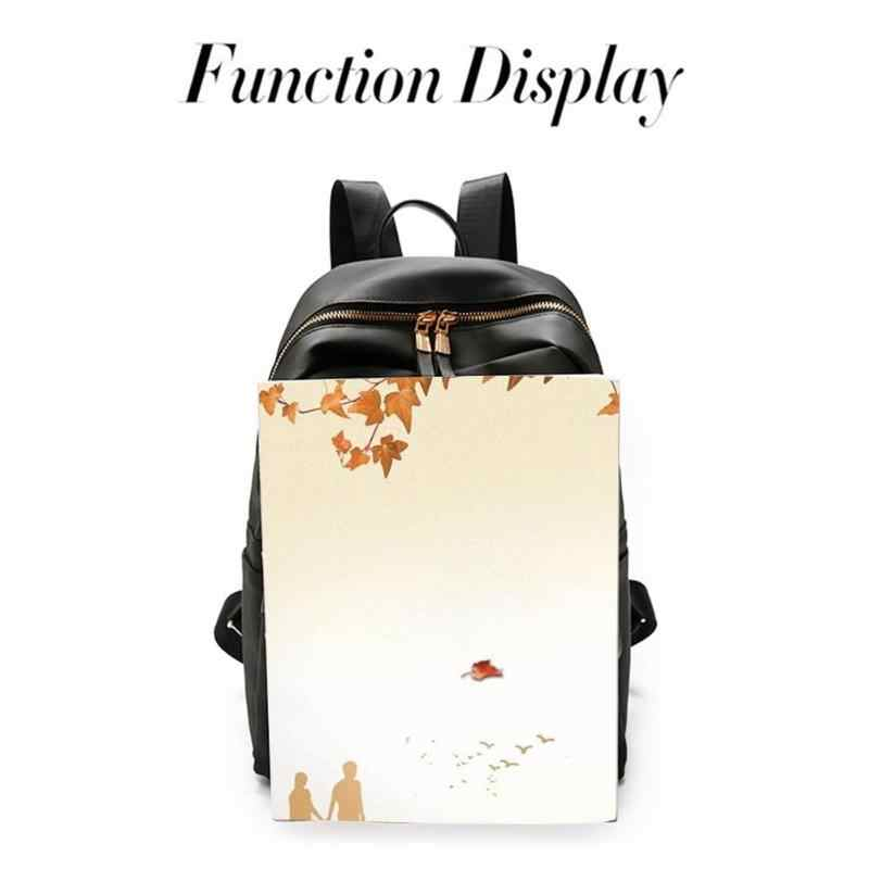 36909bf1 ... 2 unids/set mochila de mujer de moda conjunto mochila negra con bolsa  pequeña de