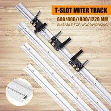 600/800/1000/1200mm alüminyum alaşım t track ağaç İşleme T yuvası gönye parça ölçek/gönye parça durdurma