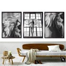 Девушка angel feather пейзаж настенное Искусство Холст Картина