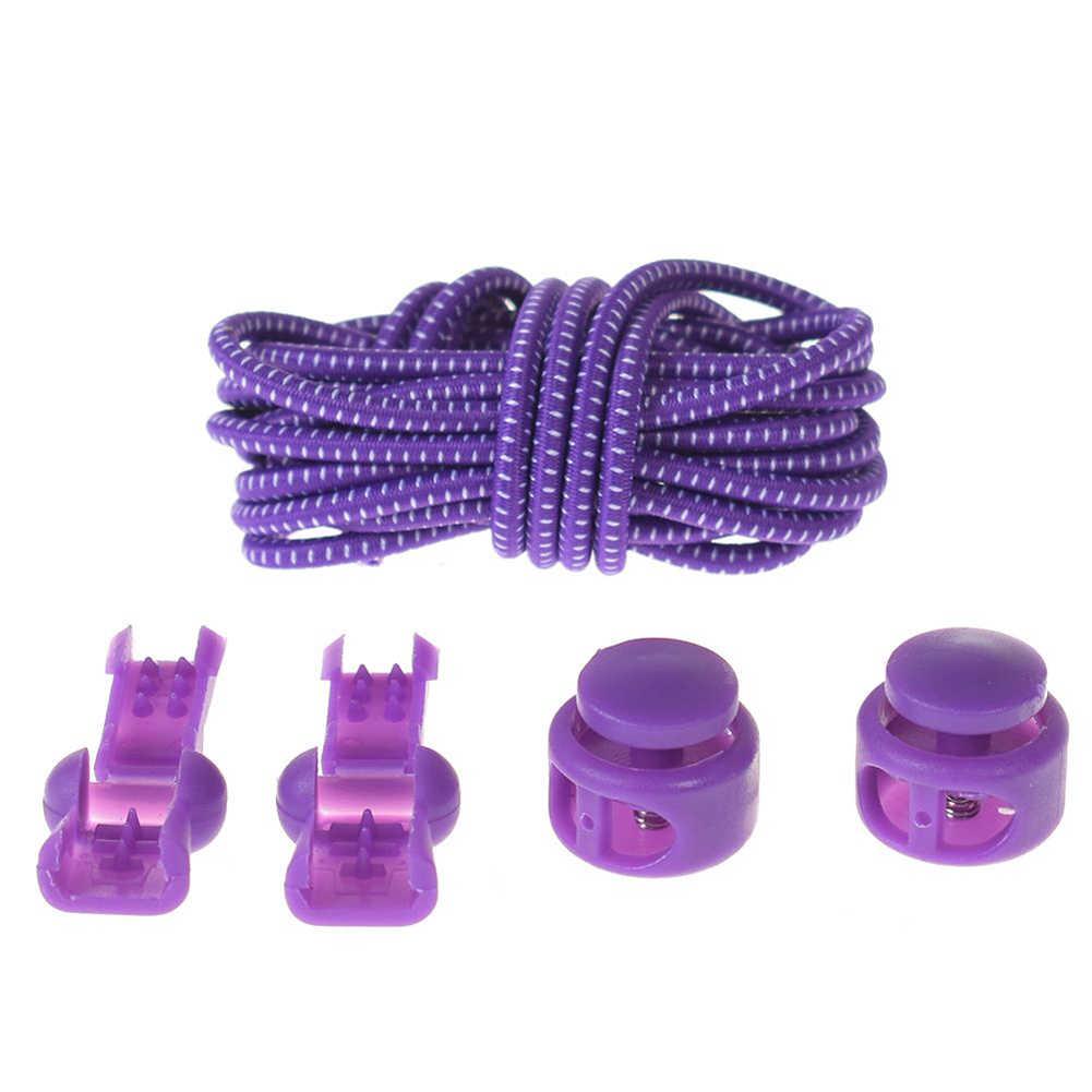 1 piezas 100cm sin cordones para zapatos con cierre elástico sistema de encaje con cierre de cordones deportivos