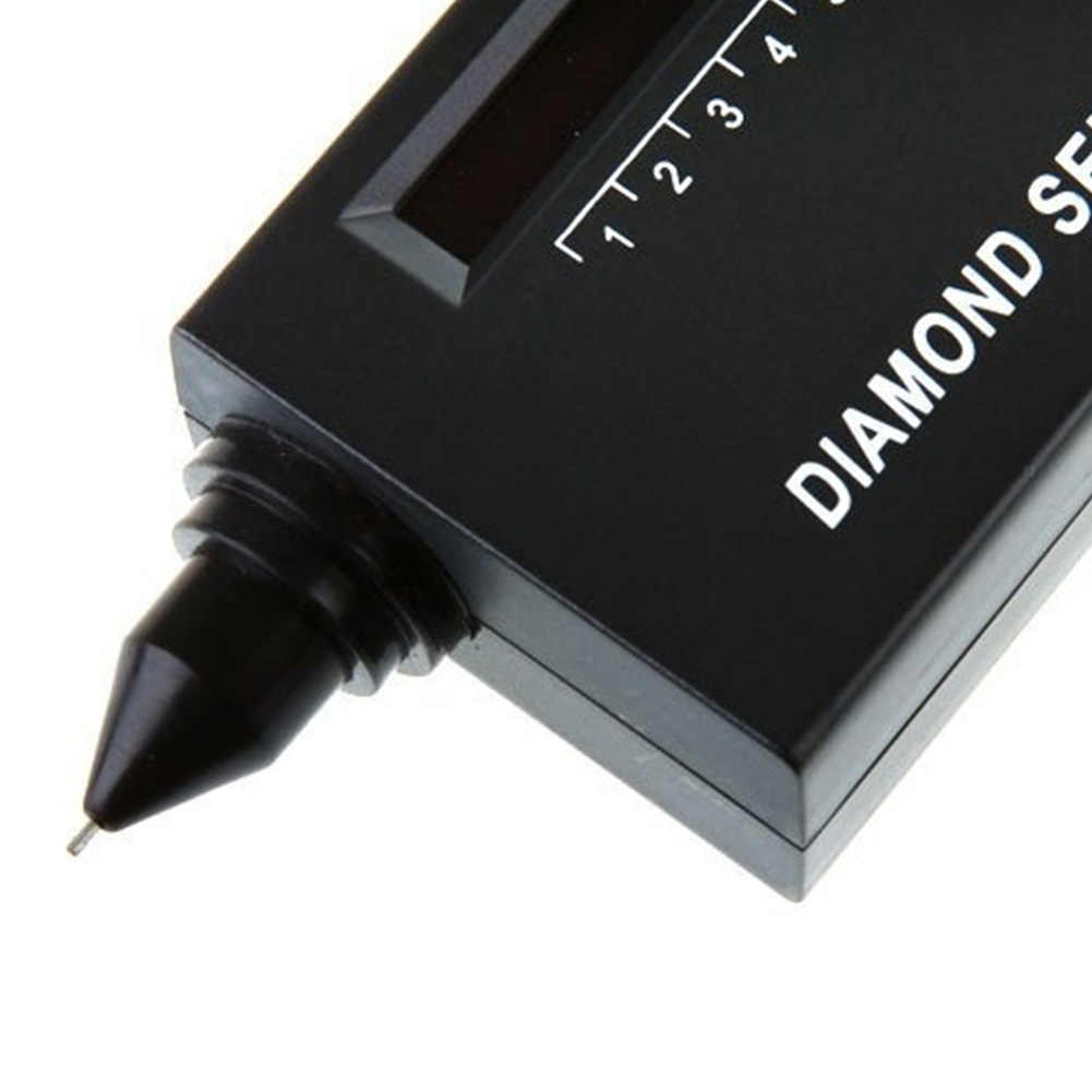 Nowy praktyczne diament selektor diament twardościomierz selektor kamień II klejnoty wskaźnik LED biżuteria narzędzie do testowania