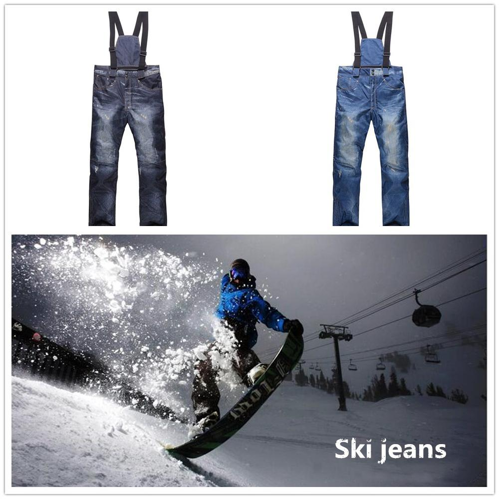 Mounchain Men's Winter Ski Pants Cowboy Snowboarding  Pants Windproof Waterproof Thickening Warmer Ski Pants S-XXXL Size