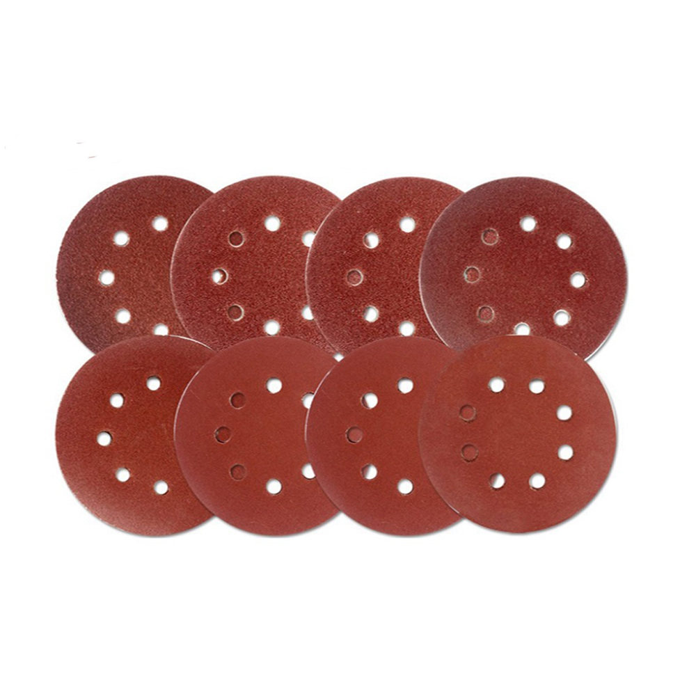 100 Pcs 125mm 60-1000 Grit Hook Loop Sandpaper With 8 Hole Sand Pads Set Sander Disc Abrasives Tools For Polish Machine To Assure Years Of Trouble-Free Service Tools Hand & Power Tool Accessories