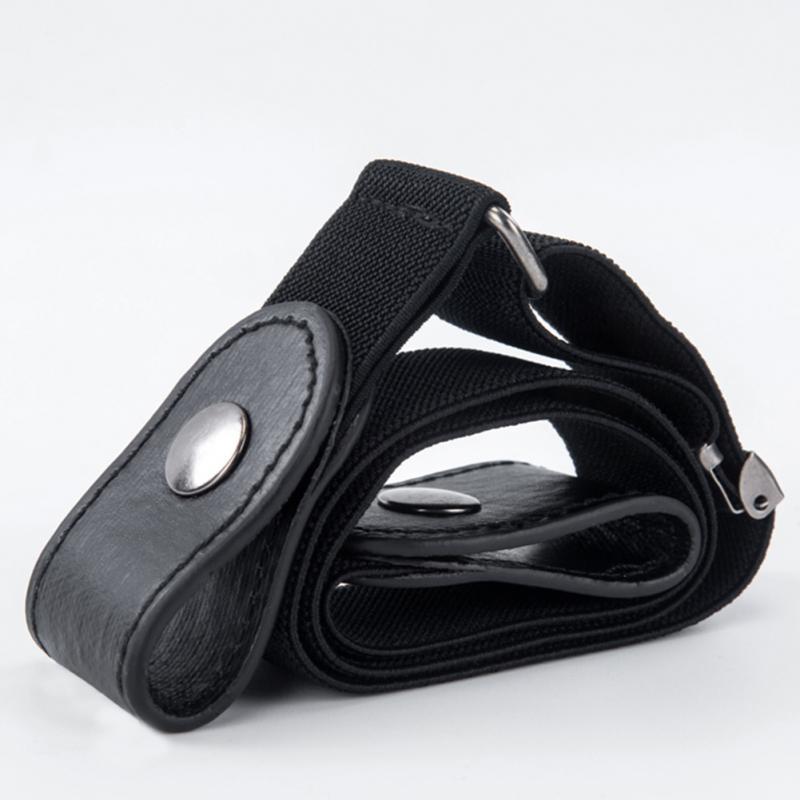 Waist Belt Buckle-Free Elastic Belt For Jean Pants Dresses No Buckle Stretch Elastic Waist Belt For Women Men No Bulge