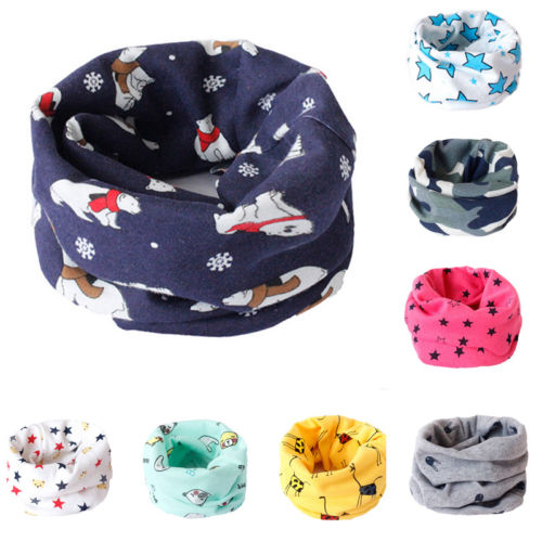 Kids Scarf Winter Soft Cotton Children/'s Neck Cover Warmer Baby Snood Scarves T