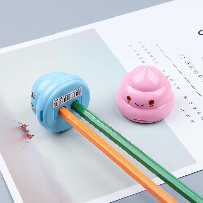 1 חתיכות יפה חמוד Kawaii Cnady צבע צואה מחדדי קוריאני מכתבים בית ספר ציוד משרדי חידוש קיד מתנות פנטסטי