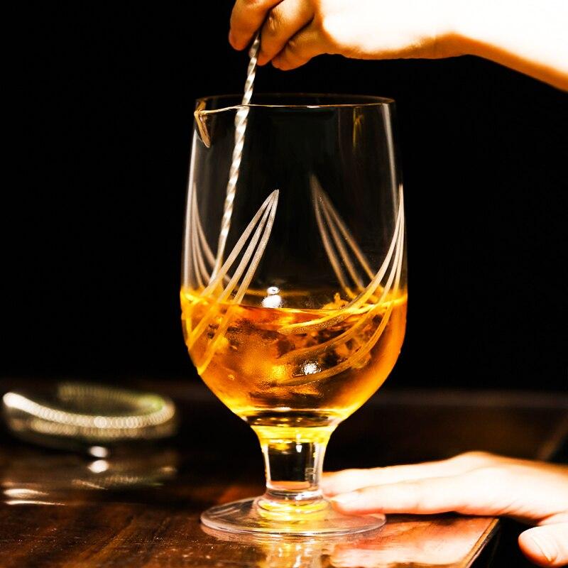 - Argento Bicchiere Gin grande Gin Bicchieri Set di 2 con Spirit Measure // Jigger e Cocktail Spoon 560 ml