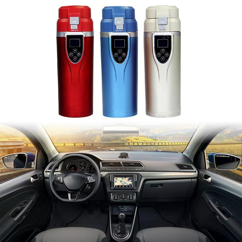1 pièces 12 V 350 ml voiture Portable électrique voyage chauffage tasse café thé bouillante tasse bouilloire voyage chauffage tasse Auto accessoires