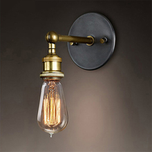 Vintage Loft Sconce Wall Lamps Lights LED E27 Edison Bulb Plated Iron Retro Industrial Home Lighting Bedside Wall Lamps Fixtures цена 2017