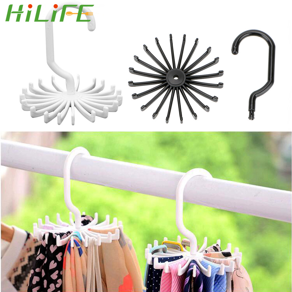 HILIFE Clothes Holder Wardrobe Organizer Rack Laundry Hanger Scarf Hanger Tie Belt Hanger Drying Rack Home Storage Space Saving