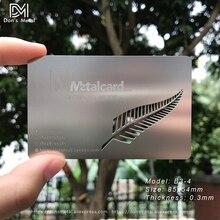 Cartão de visita de aço inoxidável personalizado cartão de visita de aço inoxidável