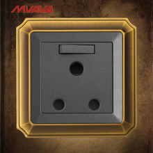 MVAVA 15A 3 Round Pin Socket With 1 Gang South Africa Standard Switched Outlets  Wall Receptacle Luxury Bronzed Free Shipping uk double 1 gang 3 pin 15a socket 2017 hot sale china manufacturer wallpad luxury wall outlet