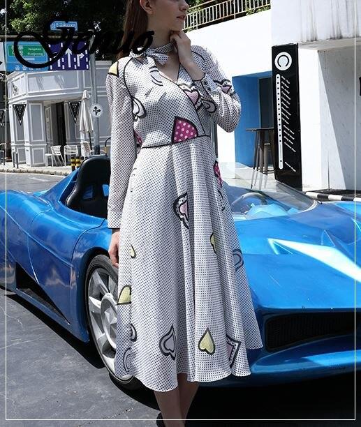 Robe d'été à pois à manches longues col en V tunique Midi Boho élégant coréen grande taille Vintage en mousseline de soie Bow robe de plage femmes Vestido