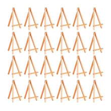 24 пачки, мини деревянный мольберт, деревянный мольберт, набор для картин, ремесло, небольшие акриловые масляные проекты