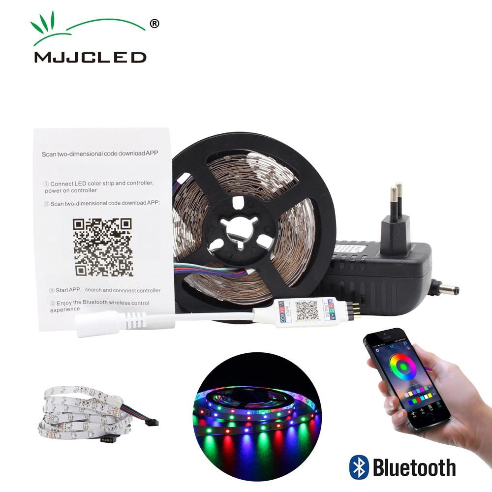 LED Strip Light Bluetooth 5M 10M Smart RGB Waterproof 12V Ribbon Flexible Tape 2835 Tira Stripe TV