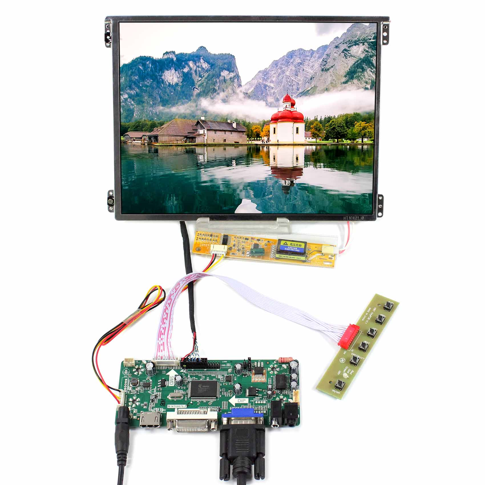 10 4inch HT10X21 311 10 4 1024X768 IPS LCD Screen with HDMI VGA DVI LCD Controller