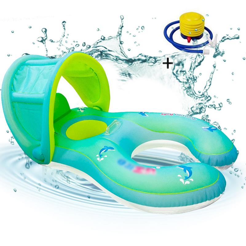 Baby Spring Float Inflatable Swim Ring Parent Child Interactive Swimming Ring Convenient For Easy Storage And Carrying