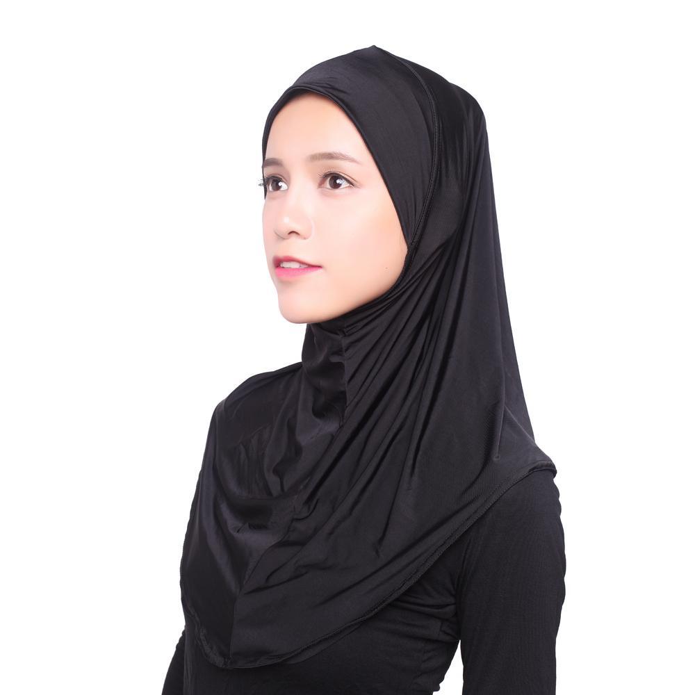 Image 3 - Women Muslim Viscose Long Scarf Hijab Islamic Shawls Arab Shayla  Wrap Scarves Headwear Hats Prayer Hat Full Cover Niquabs AmiraWomens  Scarves