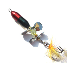 BMDT-Long Casting Spinner Bait Fishing Lure Double Tail Prop