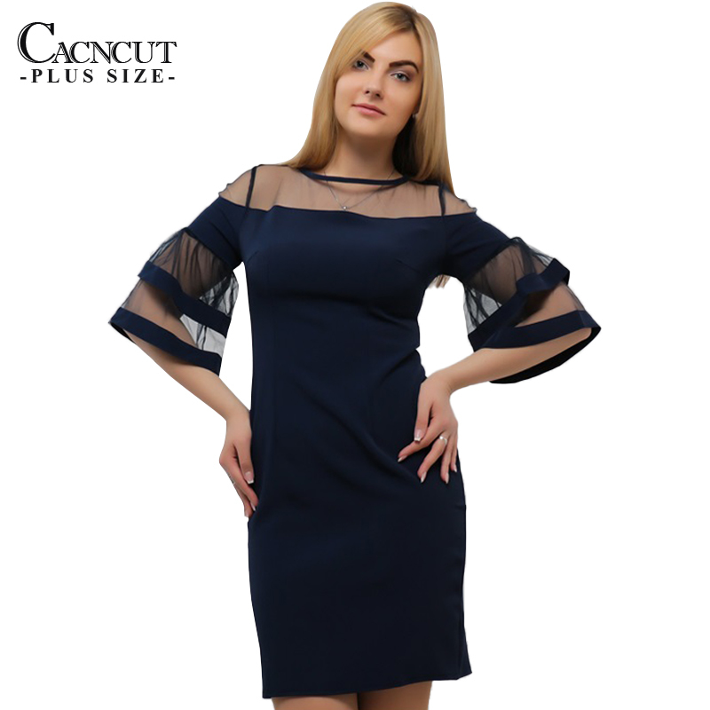 Mesh Sleeve Ruffles Summer Dress Plus Size Women Dress Bodycon Sexy Party  Dress 4XL 5XL Mini 53e9c095ecd7